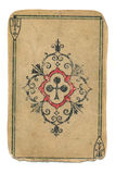 Antique playing card ace of cross isolated on white Stock Photography