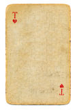 Antique playing card ace of hearts paper background Stock Image