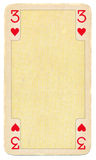 Antique playing card of hearts background Royalty Free Stock Image