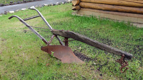 An antique plow on display in alaska Royalty Free Stock Image