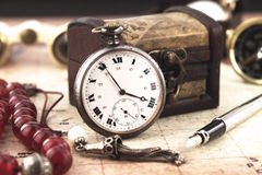 Antique Pocket Clock Royalty Free Stock Photography