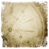 Antique pocket clock face. Royalty Free Stock Photo
