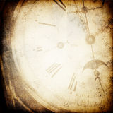 Antique pocket clock face background. Royalty Free Stock Image
