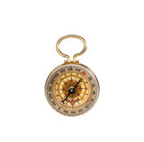 Antique pocket compass isolated Royalty Free Stock Photos
