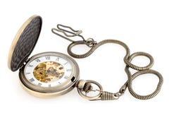 Antique pocket watch. Antique pocket watch on white Royalty Free Stock Photos