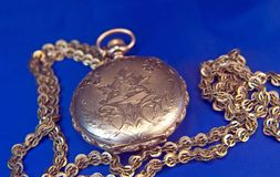 Antique pocket-watch Royalty Free Stock Images