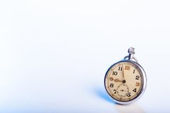 Old vintage pocket watch - space for text Royalty Free Stock Images