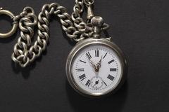 Antique pocket watch with chain royalty free stock photography