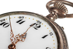 Antique pocket watch, closeup Royalty Free Stock Image