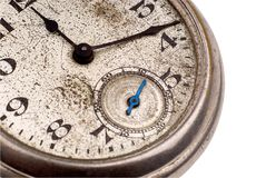 Antique pocket watch face royalty free stock images