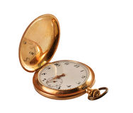 Antique Pocket watch of gold Stock Image