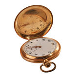 Antique Pocket watch of gold Royalty Free Stock Photos