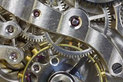 Antique Pocket Watch Inside Macro Royalty Free Stock Images