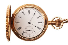 Antique pocket watch isolated Stock Photo