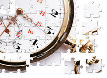 Antique pocket watch jigsaw Royalty Free Stock Images