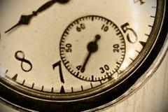 Antique pocket watch. Macro Stock Photo