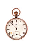 Antique Pocket Watch On White Royalty Free Stock Images