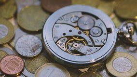 Antique pocket watch stock video
