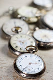 Antique pocket watches Royalty Free Stock Photos