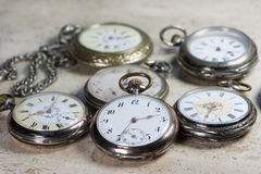 Antique pocket watches Royalty Free Stock Image