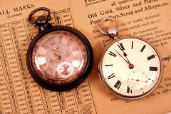 Antique pocket watches stock image