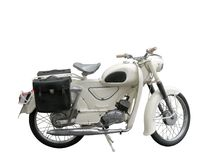 Antique police motorcycle Royalty Free Stock Image