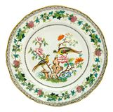 Antique Polychrome Plate Royalty Free Stock Image