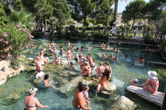 Antique Pool in Hierapolis Ancient City, Turkey Royalty Free Stock Image