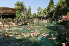 Antique Pool in Hierapolis Ancient City, Turkey Royalty Free Stock Photos