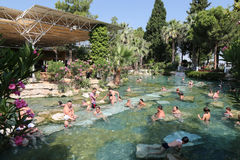Antique Pool in Hierapolis Ancient City, Turkey Stock Photos