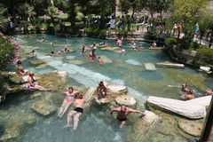 Antique Pool in Hierapolis Ancient City, Turkey Stock Image