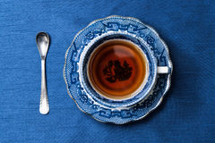 Antique porcelain blue and white tea cup Royalty Free Stock Image