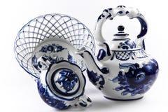 Antique porcelain, china set. Stock Image