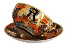 Antique porcelain cup and saucer Stock Photos
