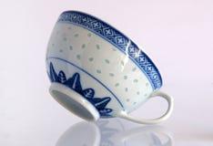 Antique porcelain cup and saucer Rice grain Stock Photos