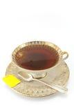 Antique porcelain  cup with tea Stock Photos