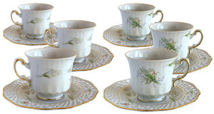 Antique porcelain cups Royalty Free Stock Photo