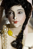 Antique porcelain doll Stock Photos