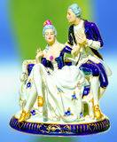 Antique porcelain figure stock images