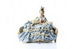 Antique porcelain figurine Stock Photos