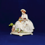 Antique porcelain figurine Royalty Free Stock Photos