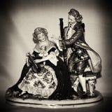Antique porcelain figurine Royalty Free Stock Photos