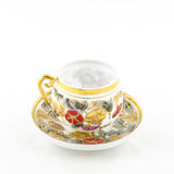 Antique porcelain tea and coffee cup Royalty Free Stock Images