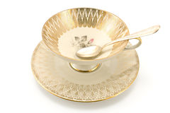 Antique porcelain tea cup Royalty Free Stock Photo