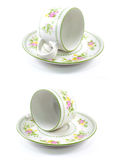Antique porcelain tea cup Royalty Free Stock Images