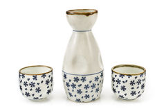 Antique porcelain vase and cups Royalty Free Stock Photography