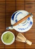 Antique porcelan teapot for green tea Royalty Free Stock Image