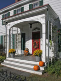 antique porch,autumn Royalty Free Stock Photography