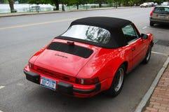 Antique Porsche Carrera 911. Red antique Porsche Carrera 911 Stock Photography