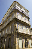 Antique portuguese architecture Royalty Free Stock Images